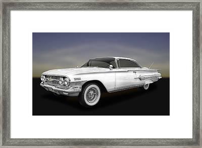 1960 Chevrolet Impala 2-door Hardtop  -  60chimpwh600 Framed Print by Frank J Benz