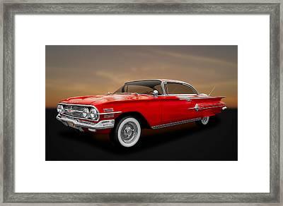 1960 Chevrolet Impala 2-door Hardtop  - 60chim11 Framed Print by Frank J Benz