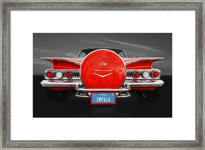 1960 Chevrolet Impala Framed Print by Frank J Benz