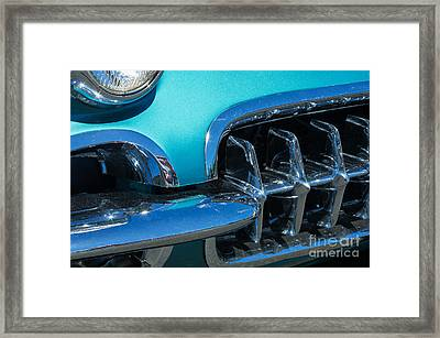 1960 Chevy Corvette Headlight And Grill Abstract Framed Print