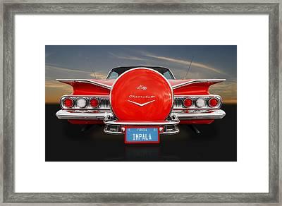 1960 Chevy Impala Continental Kit Framed Print by Frank J Benz