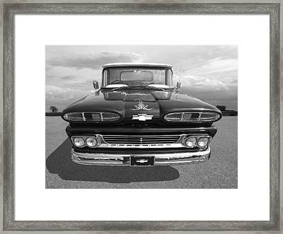 1960 Chevy Truck Framed Print by Gill Billington