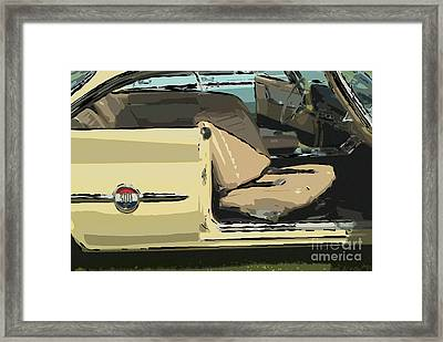 Framed Print featuring the photograph 1960 Chrysler 300-f  Muscle Car by David Zanzinger