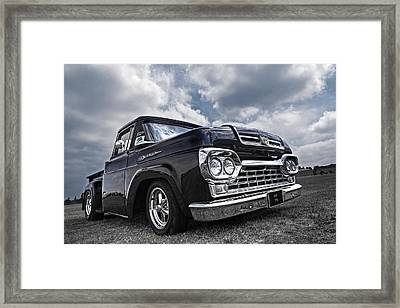 1960 Ford F100 Truck Framed Print by Gill Billington