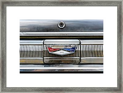1960 Ford Falcon Trunk Lid Emblem Framed Print by Jim Hughes