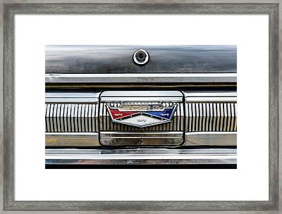 1960 Ford Falcon Trunk Lid Emblem Framed Print by Jim Hughes