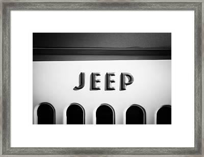 1960 Forward Control Jeep Fc-170 Emblem -1642bw Framed Print