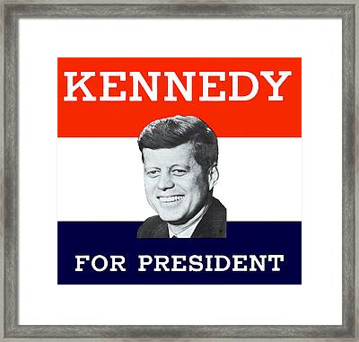 1960 Kennedy For President Framed Print