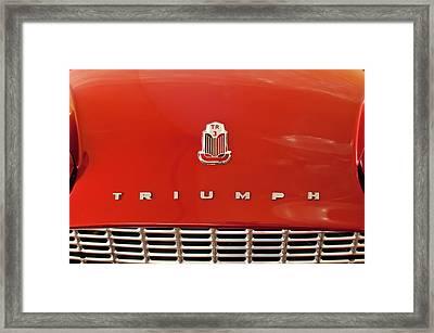 1960 Triumph Tr3 Emblem Framed Print by Jill Reger
