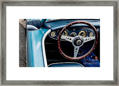 Framed Print featuring the photograph 1961 Austin Healey 3000 by M G Whittingham