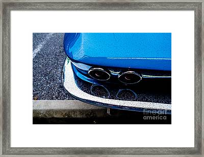 Framed Print featuring the photograph 1965 Corvette Sting Ray by M G Whittingham