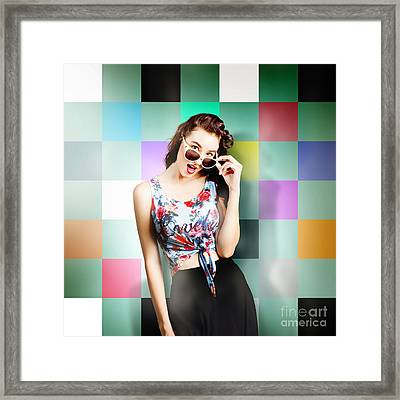 1960s Fashion Wall Pin-up Framed Print by Jorgo Photography - Wall Art Gallery