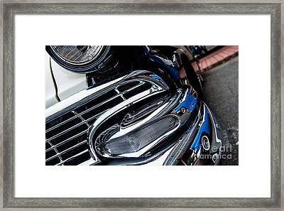 Framed Print featuring the photograph 1958 Ford Crown Victoria Reflection 2 by M G Whittingham