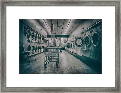 1960s Launderette Framed Print by KJ DePace