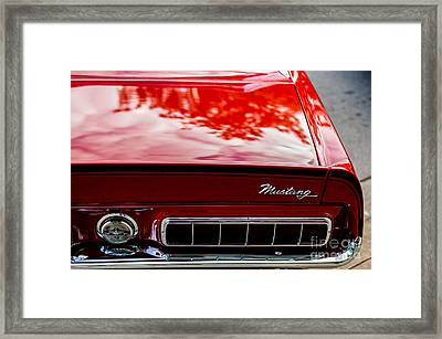 Framed Print featuring the photograph 1967 Mustang by M G Whittingham