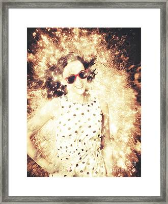 1960s Pinup Bombshell Framed Print by Jorgo Photography - Wall Art Gallery