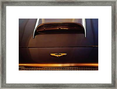 1961 Aston Martin Db4 Coupe Emblem Framed Print by Jill Reger