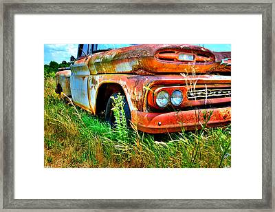 Framed Print featuring the photograph 1961 Chevrolet Apache 10 5 by Lisa Wooten