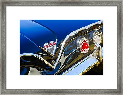 1961 Chevrolet Bel Air Impala Ss Bubble Top Tail Light Emblem -0249c Framed Print by Jill Reger