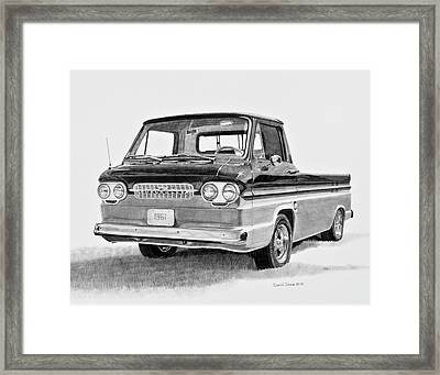 1961 Chevrolet Corvair Rampside Framed Print by Daniel Storm