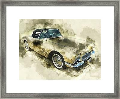 1961 Chevrolet Corvette Framed Print