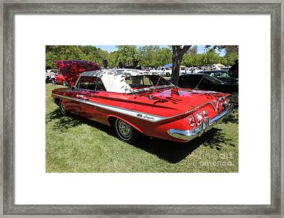 1961 Chevrolet Impala Ss Convertible . 5d16265 Framed Print by Wingsdomain Art and Photography