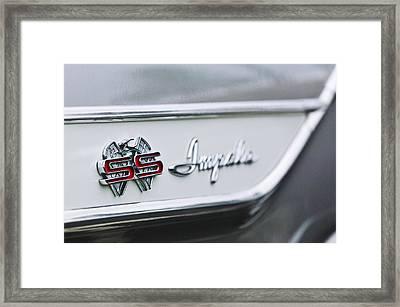 1961 Chevrolet Impala Ss Emblem Framed Print by Jill Reger