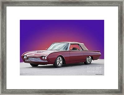 1961 Ford Thunderbird 'custom' Convertible II Framed Print