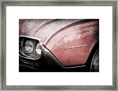 1961 Ford Thunderbird Emblem -0177ac Framed Print by Jill Reger