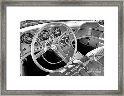 1961 Ford Thunderbird Interior  Framed Print by Olivier Le Queinec