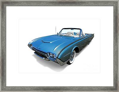 1961 Ford Thunderbird Framed Print by Olivier Le Queinec