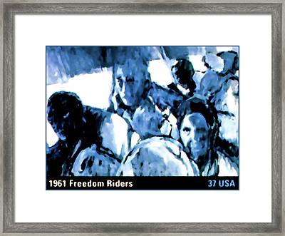 1961 Freedom Riders Framed Print by Lanjee Chee