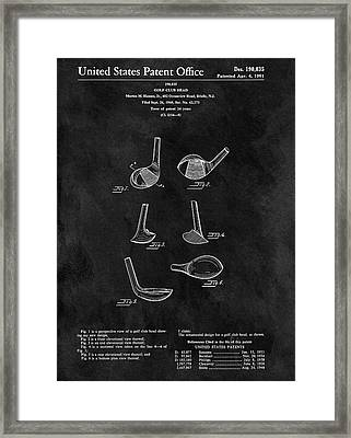 1961 Golf Club Head Patent Framed Print