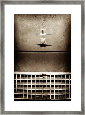 1961 Lincoln Continental Hood Ornament -0003s Framed Print by Jill Reger