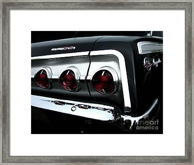 1962 Chevrolet Impala Tail Framed Print by Peter Piatt
