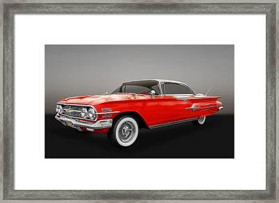 1960 Chevy Impala Framed Print by Frank J Benz