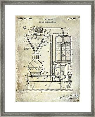 1962 Coffee Maker Patent  Framed Print by Jon Neidert