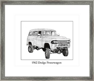1962 Dodge Powerwagon Framed Print by Jack Pumphrey