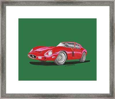 1962 Ferrari Gto Especial Framed Print