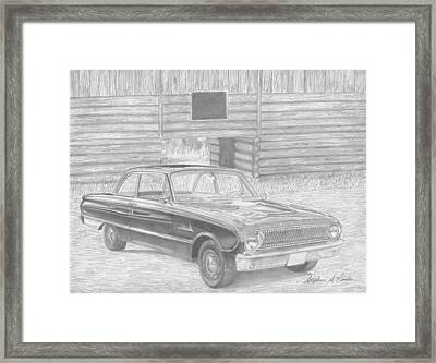 1962 Ford Falcon Classic Car Art Print Framed Print by Stephen Rooks