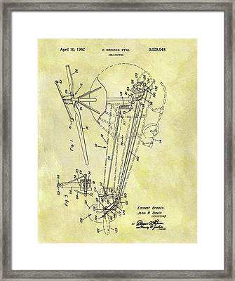 1962 Helicopter Patent Framed Print by Dan Sproul