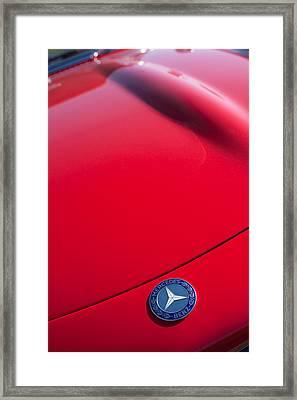 1962 Mercedes-benz 300sl Roadster Emblem -0384c Framed Print by Jill Reger