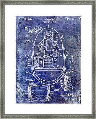 1962 Mobile Space Suit Patent Blue Framed Print by Jon Neidert