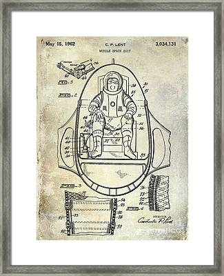 1962 Space Suit Patent Framed Print by Jon Neidert