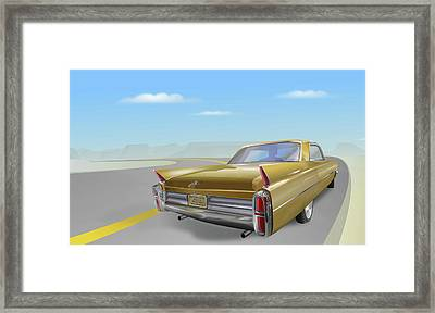 1963 Cadillac De Ville Framed Print by Marty Garland