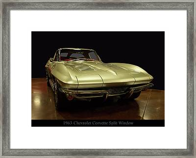 Framed Print featuring the photograph 1963 Chevrolet Corvette Split Window by Chris Flees