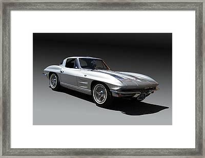 1963 Chevrolet Corvette Split Window Framed Print by Nick Gray