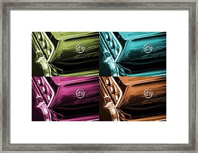 1963 Chevrolet Impala Ss Offset Colors Framed Print by Gordon Dean II