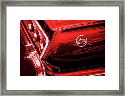 1963 Chevrolet Impala Ss Red Framed Print by Gordon Dean II
