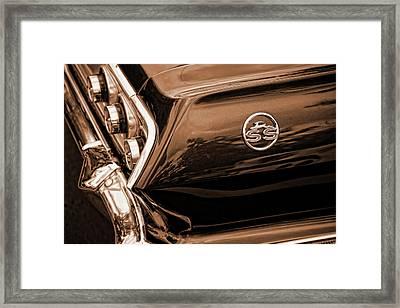 1963 Chevy Impala Ss Sepia Framed Print by Gordon Dean II